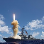 USS Fitzgerald launches missile in missile defense drill; Source: http://navylive.dodlive.mil/2012/10/25/largest-missile-defense-flight-test-in-history/
