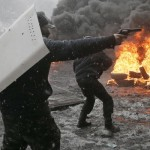 Protestors in Kiev Fire on Police