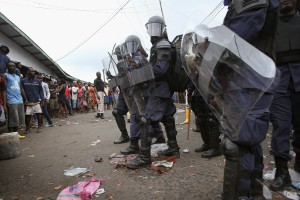 Liberian Military Seal Slums to Prevent Spread of Ebola_ Source: NBC News